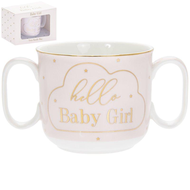 MADDOTS HELLO BABY GIRL MUG