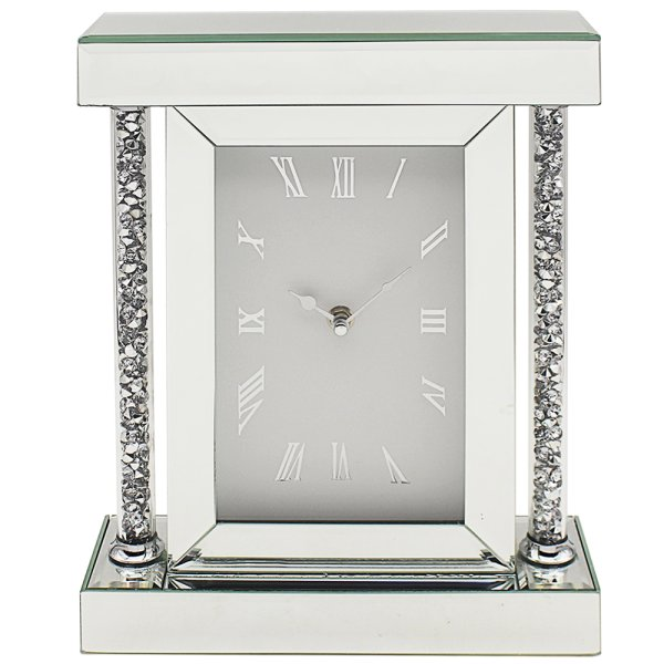 CRYSTAL CLEAR DIAMANTE CLOCK