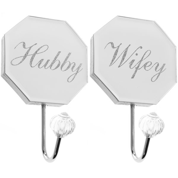 MIRROR HUBBY&WIFE WALLHOOK SET