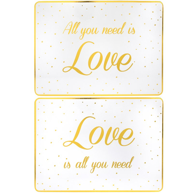 LOVE PLACEMATS SET 2