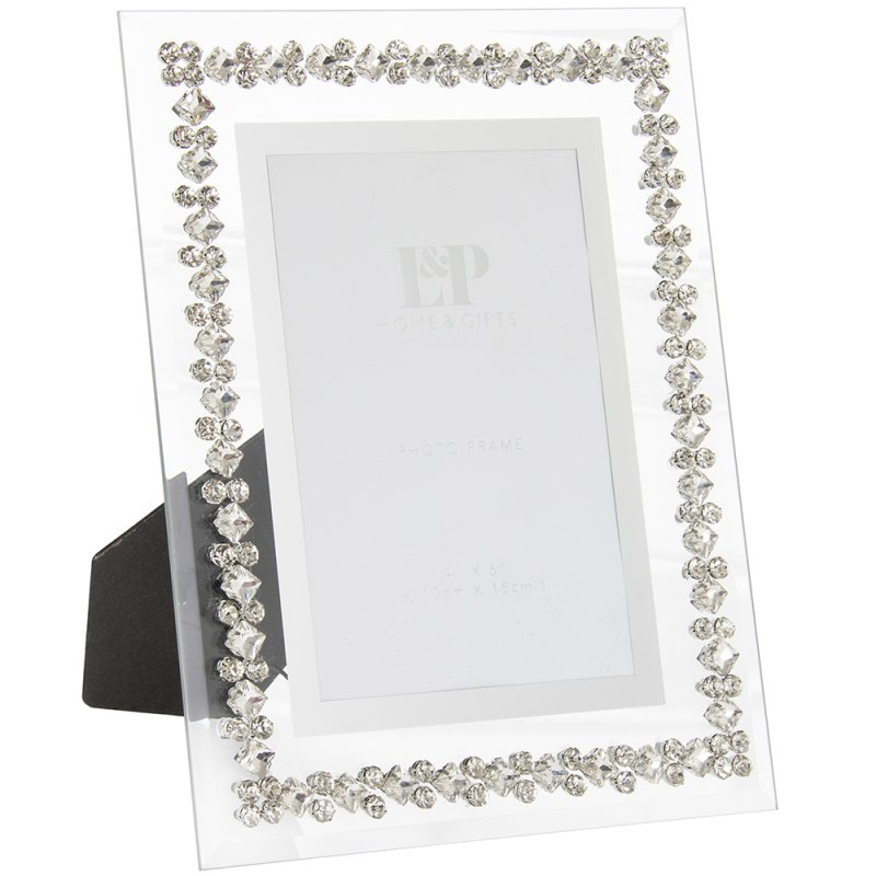 MIRROR DIAMANTE FRAME 4X6