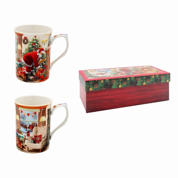 SANTA MUGS SET OF 2