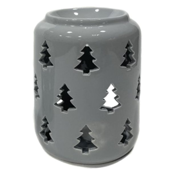 XMAS TREE GREY WAX WARMER 14CM
