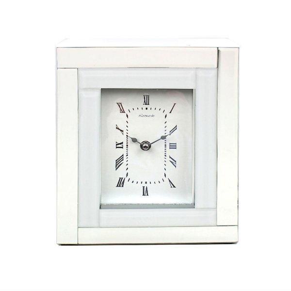 MIRROR WHITE CLOCK 5X7