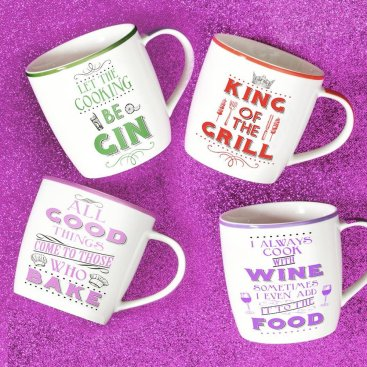 WORD PLAY MUGS, APRONS & TEA TOWELS