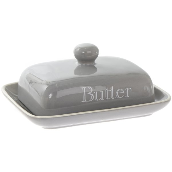 GREY CLASSIC BUTTER DISH