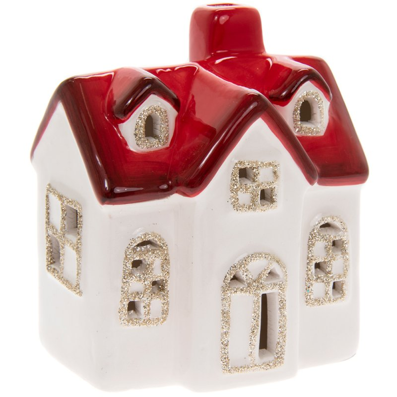 XMAS HOUSE RED ROOF LED