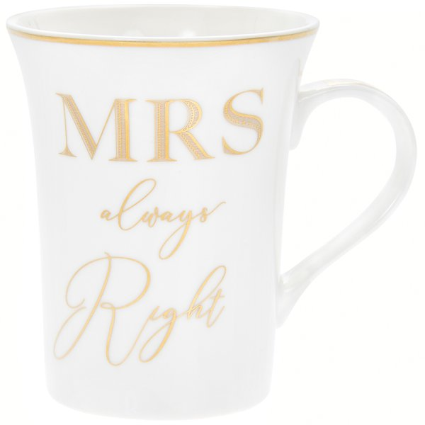 GOLD MRS ALWAYS RIGHT MUG
