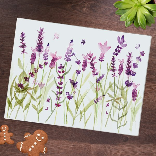 LAVENDER CUTTING BOARD