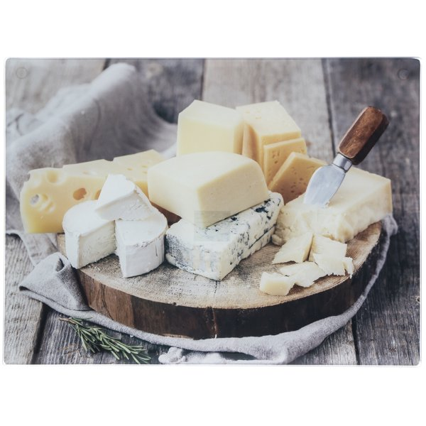 CHEESES LGE GLS CUTTING BOARD