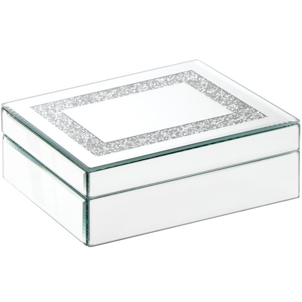 MIRROR CRYSTAL JEWELLERY BOX