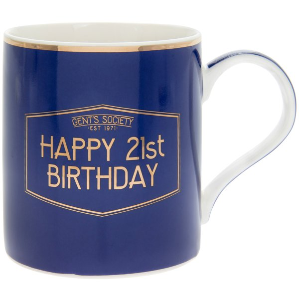 GENT'S SOCIETY HAPPY 21ST MUG