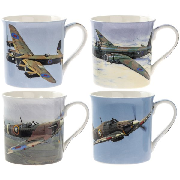 PLANE MUGS SET OF 4