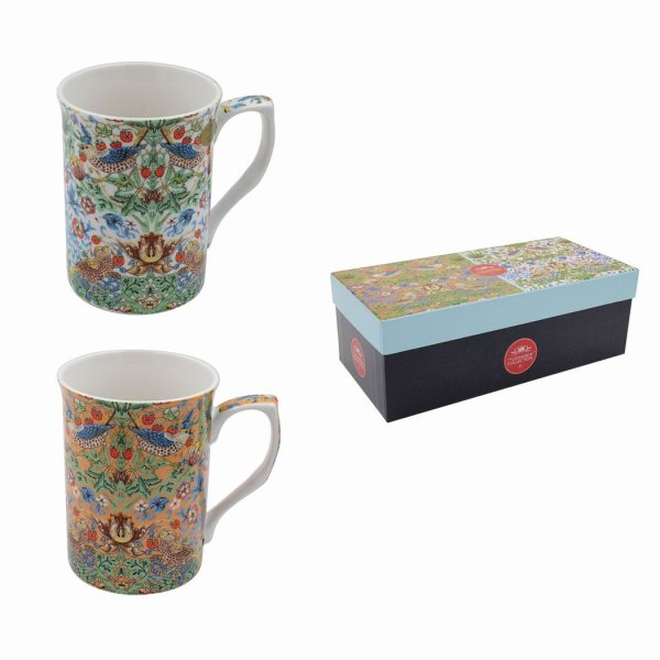W MORRIS STRAW/THIEF MUGS 2SET