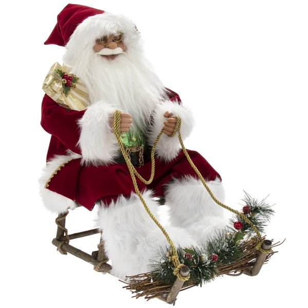 SANTA ON SLEDGE RED 24""
