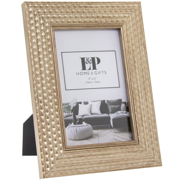 GOLD HEXAGON PHOTO FRAME 4X6