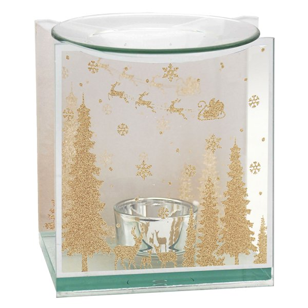 XMAS GOLD GLITTER OIL BURNER