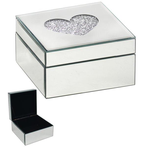CRYSTAL JEWELLERY BOX HEART