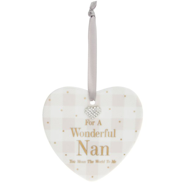MAD DOTS NAN HEART PLAQUE