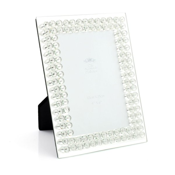 MIRROR DIAMANTE FRAME 4X6""