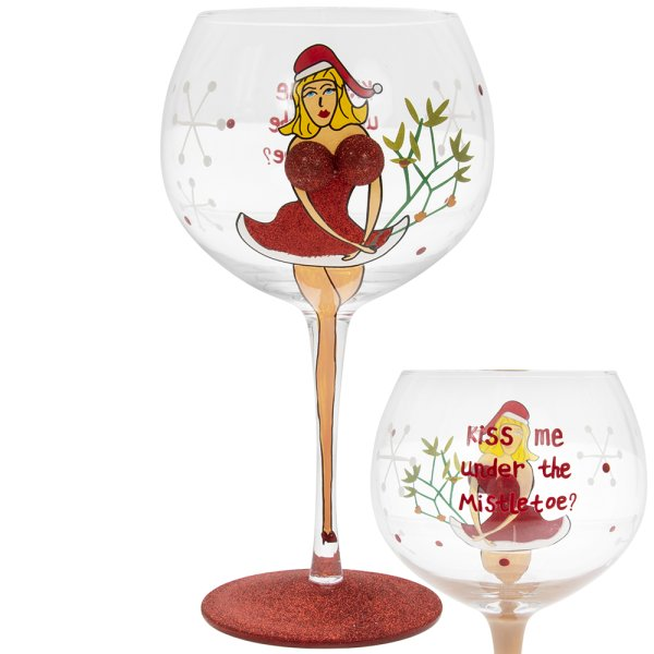 XMAS BOOBY GIN GLASS