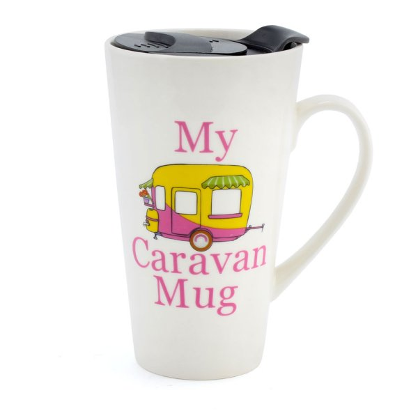 MY CARAVAN TRAVEL MUG PINK