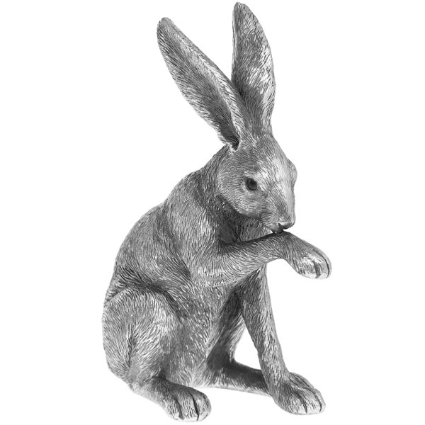 REFLECTIONS SILVR SITTING HARE