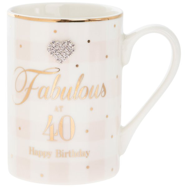 MAD DOTS 40TH BDAY MUG