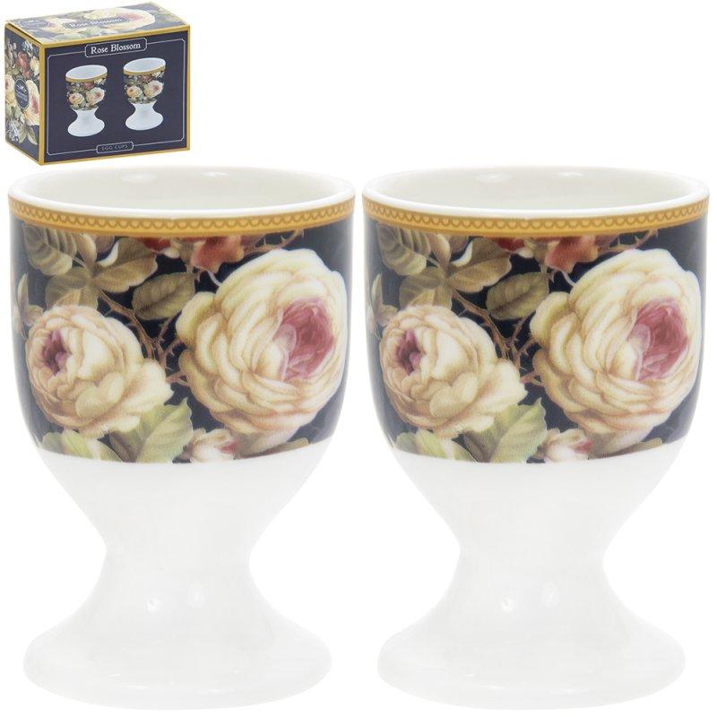 ROSE BLOSSOM EGG CUPS S/2