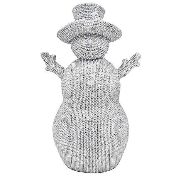 "SILVER ART SNOWMAN 10"""
