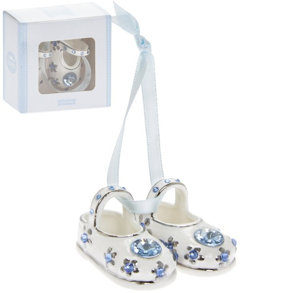 S/P DIAMANTE BABY BOOTIES BLUE
