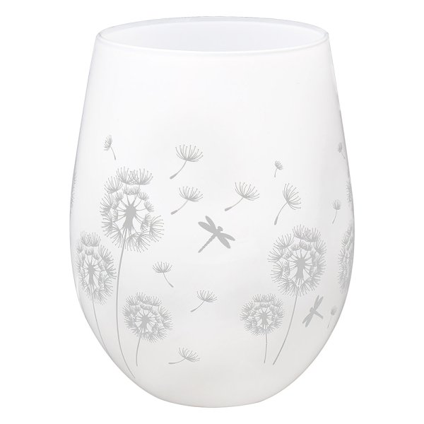 DRAGONFLY SIL/WHT T/LESS GLASS