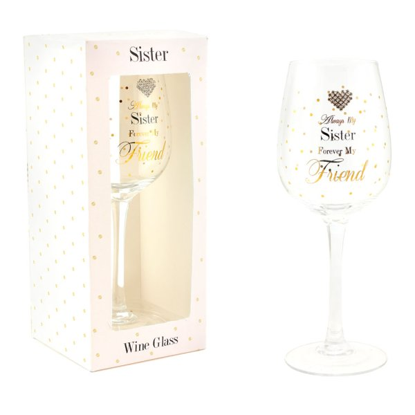MAD DOTS SISTER WINE GLASS