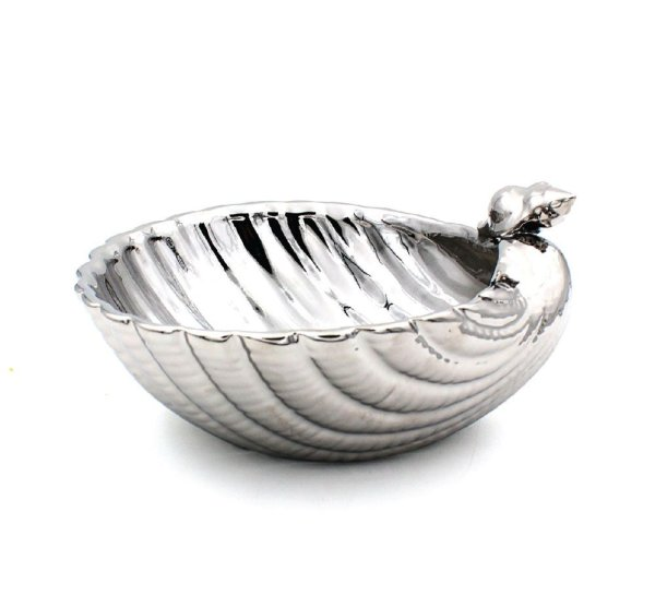 SILVER ART SHELL BOWL 7.5""