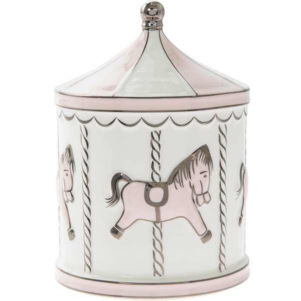 BABY PINK CAROUSEL MONEY BOX