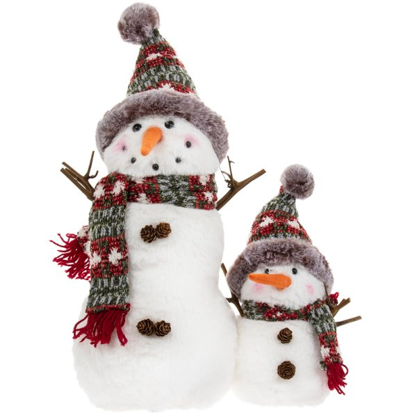 PLUSH SNOWMAN WITH BABY