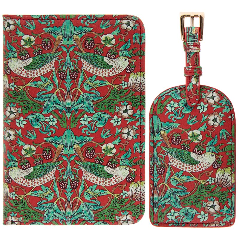 S BERRY THIEF TRAVEL SET RED