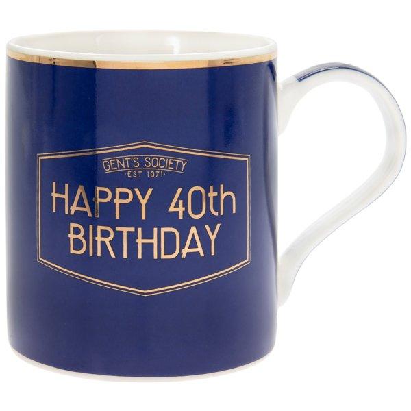 GENT'S SOCIETY HAPPY 40TH MUG