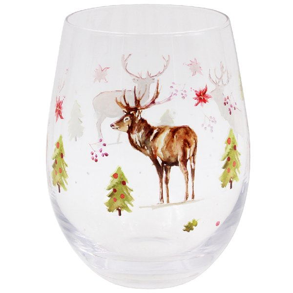 WINTER STAGS STEMLESS WINE GLS