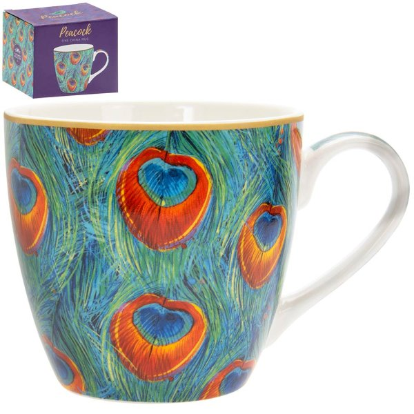PEACOCK BREAKFAST MUG