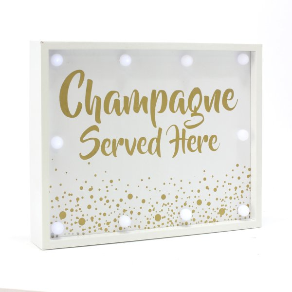 CHAMPAGNE SERVED HERE LEDLIGHT