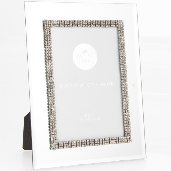 "MIRROR DIAMANTE FRAME 4""X6"""