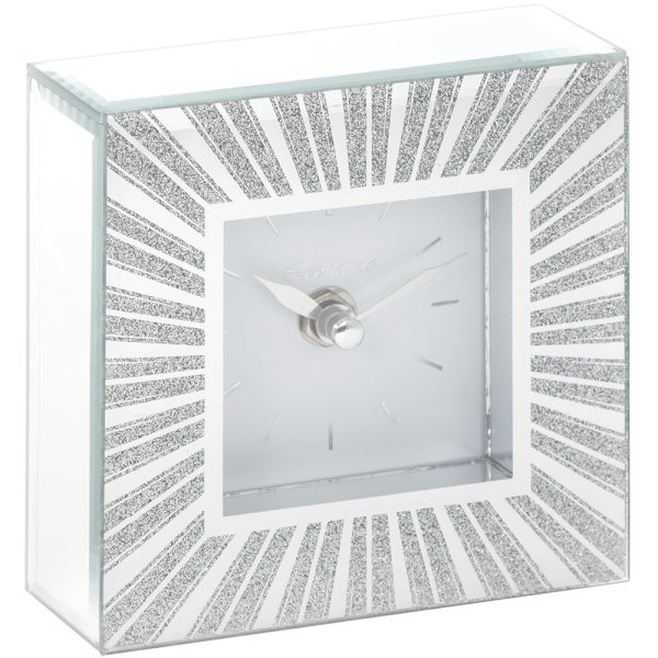 SUNBURST MIRROR CLOCK
