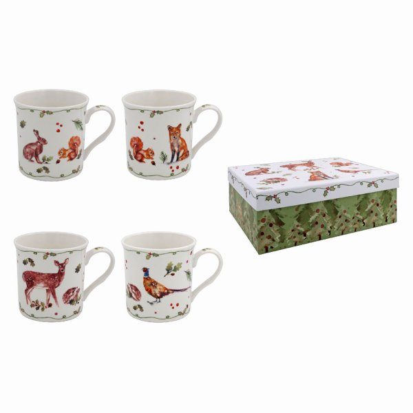 WINTER FOREST MUGS SET OF 4