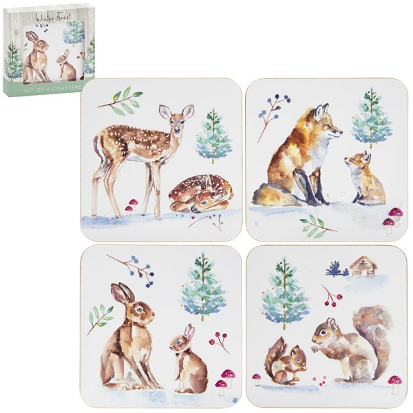 WINTER FOREST COASTERS S4