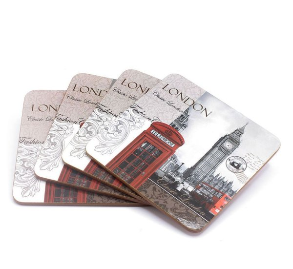 NEW LONDON COASTERS SET 4