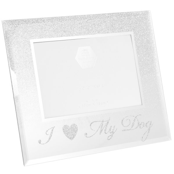 SILVER I LOVE MY DOG FRAME 4X6