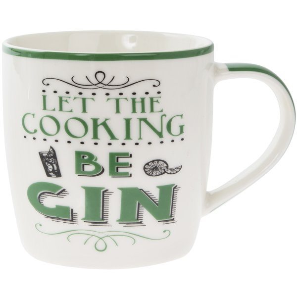 LET THE COOKING BE GIN MUG