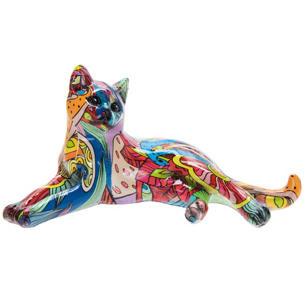GROOVY ART CAT LYING