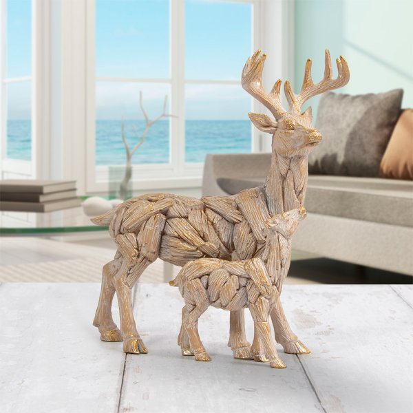 DRIFTWOOD STAG WITH BABY